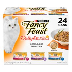 Fancy Feast Delights with Chedder Grilled Variety Pack 85gx24