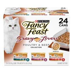 Fancy Feast Gravy Lovers Poultry & Beef Variety Pack 85gx24