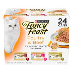 Fancy Feast Poultry & Beef Classic Variety Pack 85gx24