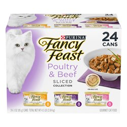 Fancy Feast Poultry & Beef Sliced Variety Pack 85gx24