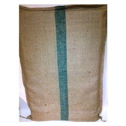 Hessian Foam Mattress - Green Striped (Double Foam)