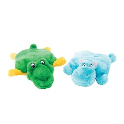 ZippyPaws Squeakie Pads Hippo & Alligator 2pk