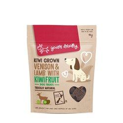 Yours Droolly Kiwi Grown Venison & Lamb with Kiwi Fruit Dog Treats 90g