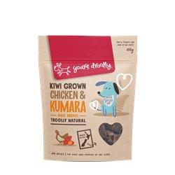 Yours Droolly Kiwi Grown Chicken & Kumara Dog Treats 100g