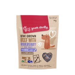 Yours Droolly Kiwi Grown Hip & Joint Beef & Blueberry Dog Treats 100g