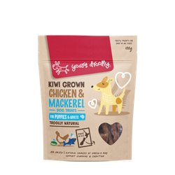 Yours Droolly Kiwi Grown Skin & Coat Chicken & Mackeral Dog Treats 100g