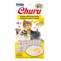 Inaba Cat Treats Churu Chicken with Cheese Cat Treat 56g
