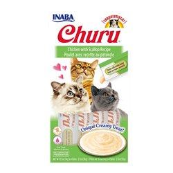 Inaba Churu Chicken with Scallop Recipe Cat Treat 56g