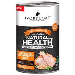 Ivory Coat Wholegrain Chicken & Brown Rice Wet Dog Food 400g