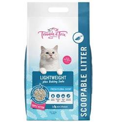 Trouble & Trix Lightweight Clay Clumping Cat Litter W/ Baking Soda