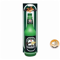 """Tuffy Silly Squeakers Toy Beer Bottle """"Heinie Sniffen"""""""