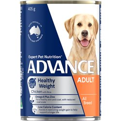 ADVANCE Healthy Weight Wet Dog Food Chicken with Rice
