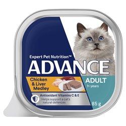 Advance Cat Chicken & Liver Medley 85g