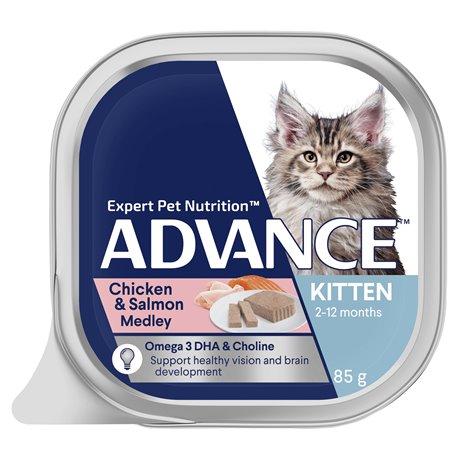 Advance Kitten Chicken & Salmon Medley 85g