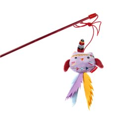 GIGWI Happy Indians Catwand Owl Toy