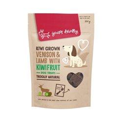 Yours Droolly Kiwi Grown Venison & Lamb with Kiwi Fruit Dog Treats 200g