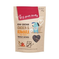 Yours Droolly Kiwi Grown Chicken & Kumara Dog Treats 220g