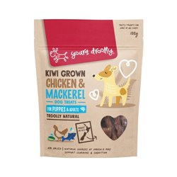 Yours Droolly Kiwi Grown Skin & Coat Chicken & Mackeral Dog Treats 220g