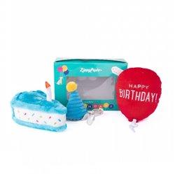 ZippyPaws Birthday Box 3 Pack Blue
