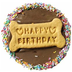 Huds and Toke Happy Birthday Carob Frosted Doggy Cake 12cm