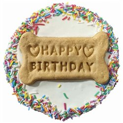 Huds and Toke Happy Birthday Yoghurt Frosted Doggy Cake 12cm