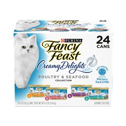 Fancy Feast Classics Creamy Delights Poultry Seafood Collection 85gx24