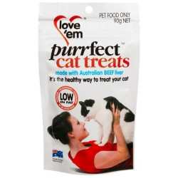 Love Em Purrfect Beef & Pork Treat 90G