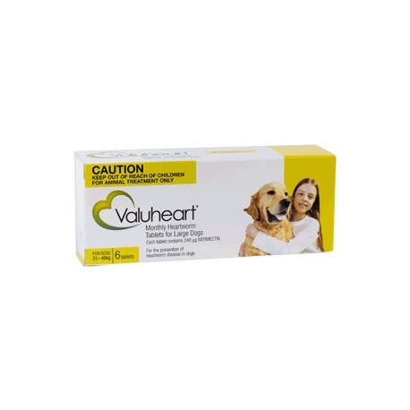 Valuheart Large Dog Gold 6Tab