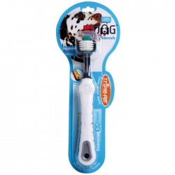 Ezdog Triple Pet Tooth Brush for Large Breeds