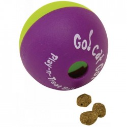 "Go!Cat!Go! Play-N-Treat BALL 2.5"" (6cm) Dia - 2pk"