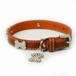 Dog Collar with Diamante Bones
