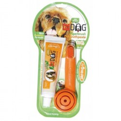 Ezdog Triple Pet Finger Dental Kit Brush