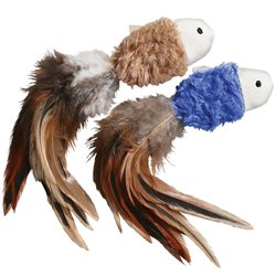 KONG CAT NAT CRINKLE FISH W/FEATHER