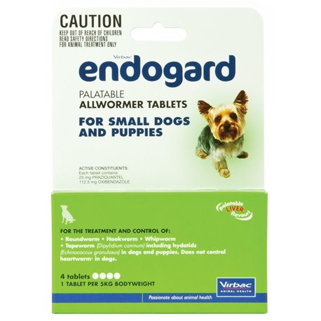 Virbac Endogard Dog 5KG 4Tabs