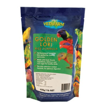 Vetafarm Golden Lori Rice Formula