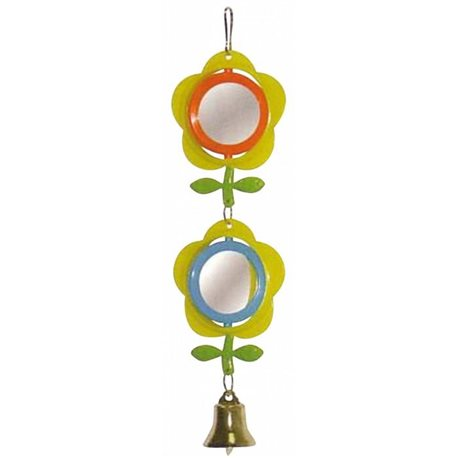 BirdLife Two Flower Mirror with Bell