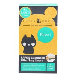 Rufus & Coco Elasticised Litter Tray Liners Large (8 Pack)
