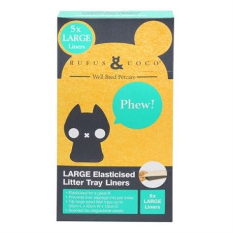 Rufus & Coco Elasticised Litter Tray Liners Large