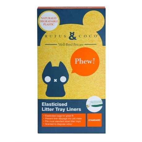 Rufus & Coco Elasticised Litter Tray Liners Standard