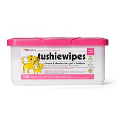 Petkin Tushie Wipes - 100 Pack