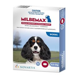 Milbemax Dog All Wormer 0.5-5KG 2Tabs