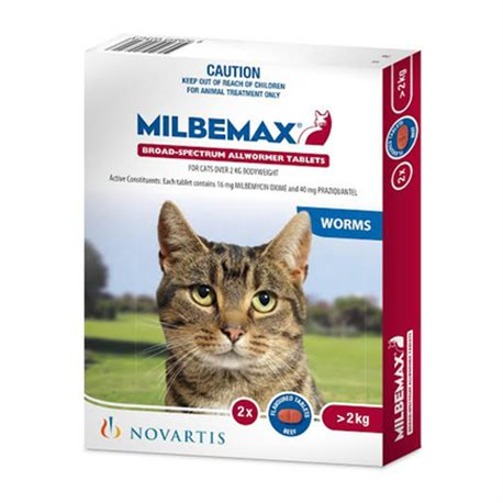 Milbemax Cat All Wormer 2KG-8KG 2Tabs