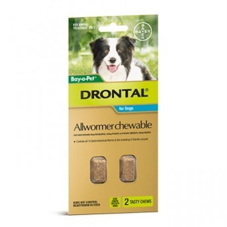 Drontal Dog 10kg Chewable