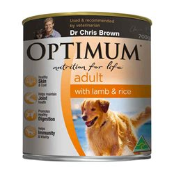 Optimum Dog Lamb & Rice Cans
