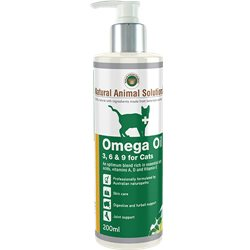 Natural Animal Solutions Omega 3, 6 & 9 Oil for Cats 200ml