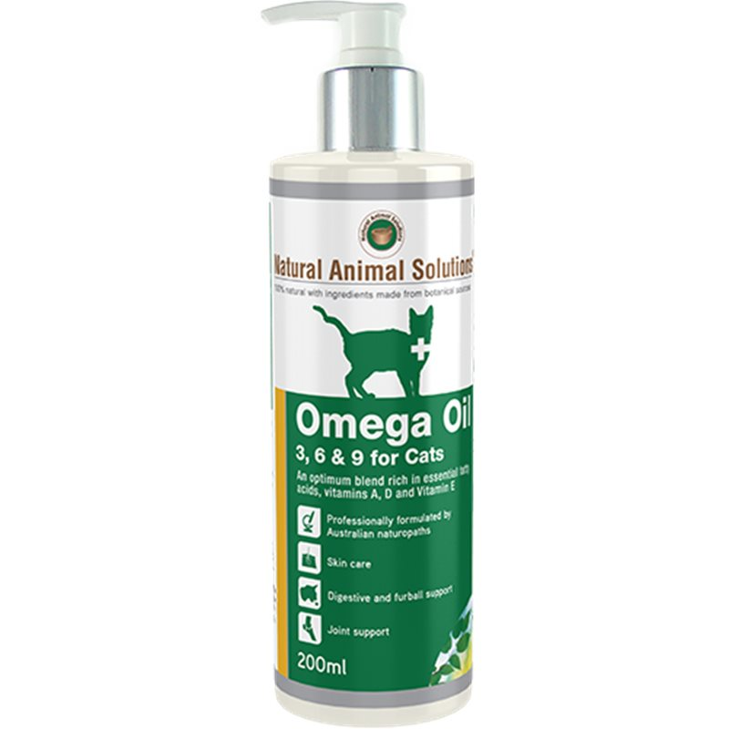 Natural Animal Solutions Omega 3 6 Amp 9 Oil For Cats 200ml