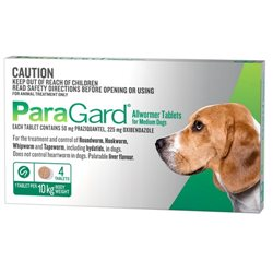 Paragard All Wormer Medium Dog 5-10kg 4 Tabs
