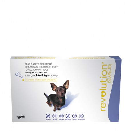 Revolution Purple for Small Dogs 2.5-5KG