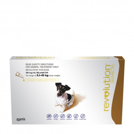 Revolution Brown for Medium Dog 5.1-10KG