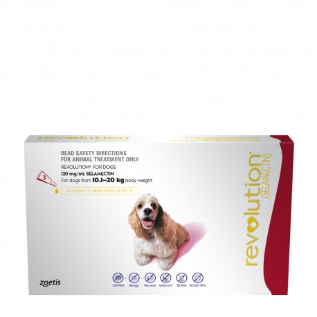 Revolution Large Dog Red 10.1-20kg